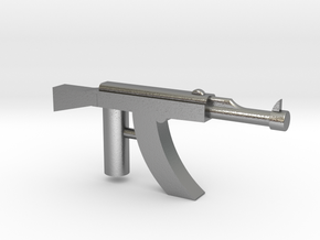 Ak-47 Minifigure Gun 1.3 in Natural Silver