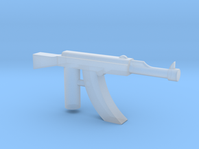 Ak-47 Minifigure Gun 1.3 in Smooth Fine Detail Plastic
