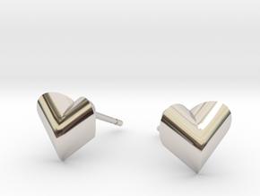 Heartpeach Earrings in Platinum