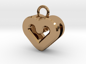 Resonant Heart Keychain in Polished Brass
