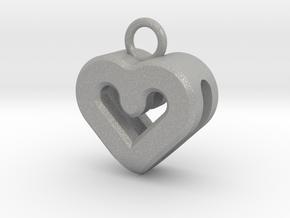 Resonant Heart Keychain in Aluminum