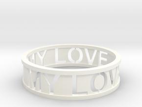 Bracelet my love in White Processed Versatile Plastic
