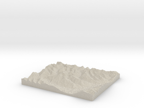Model of Mount Broome in Natural Sandstone