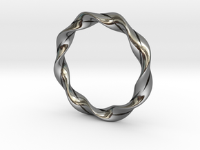 Twisted Bracelet  in Fine Detail Polished Silver