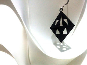 OCTAHEDRON Earring / Pendant Nº1 in Black Acrylic