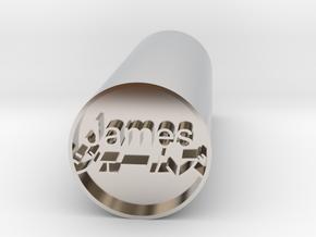 James Japanese hanko stamp backward version in Platinum