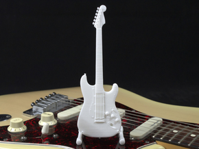 Fender Stratocaster, Scale 1:6 in White Strong & Flexible Polished