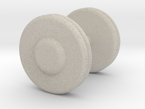 a Mini Troy Barbell Fixed Pro-Style Dumbbells in Natural Sandstone