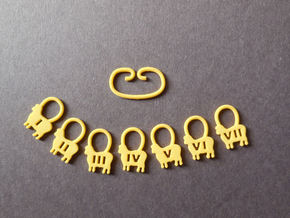 Counting Sheep Stitch Markers in Yellow Strong & Flexible Polished