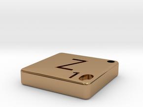 """Z"" Tile in Polished Brass"