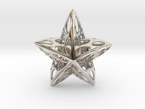 Star01 in Rhodium Plated Brass