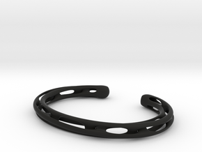 Heavy Möbius bracelet in Black Natural Versatile Plastic