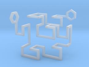 Gosper Pendant 3D in Smooth Fine Detail Plastic