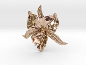 BlakOpal Steamy Orchid - flat in 14k Rose Gold Plated
