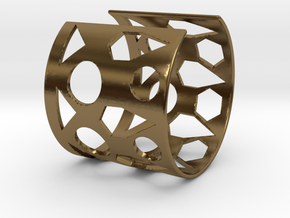 Cubic Bracelet Ø68 Mm/Ø2.677 inch Style A Large in Polished Bronze