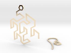 Gosper Earring in 14k Gold Plated Brass