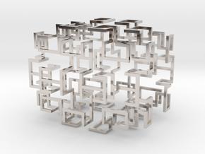 Gosper Pendant Web in Rhodium Plated Brass