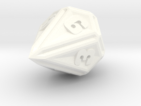D10 in White Strong & Flexible Polished