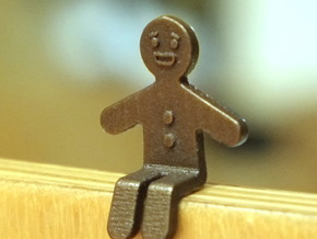 Gingerbread Man_Seated in Polished Brass