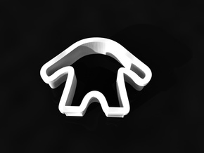 Monster cookie cutter in White Natural Versatile Plastic
