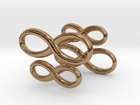 Cufflinks Infinity  Symbol 2x in Polished Brass
