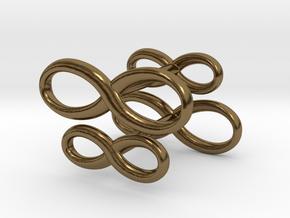 Cufflinks Infinity  Symbol 2x in Polished Bronze