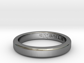 Always Ring - US Size 10 in Fine Detail Polished Silver