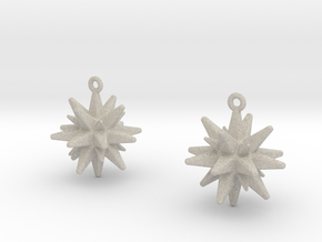 Christmas_Star Earrings  in Natural Sandstone