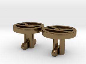 Kingsman Cufflinks in Polished Bronze