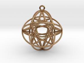 Super Genesa Crystal in Polished Brass