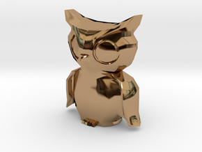 """Owl"" - Monopoly Figure in Polished Brass"