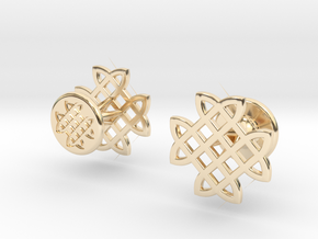 CELTIC KNOT CUFFLINKS in 14K Yellow Gold