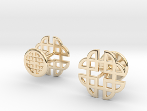 CELTIC KNOT CUFFLINKS 021316 in 14K Yellow Gold