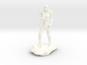 Ceptienne, Human Mage with Dagger in White Processed Versatile Plastic