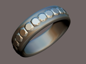 Gemstone Ring - US Size 9 in Polished Silver