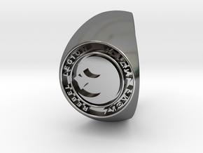 Custom Signet Ring Rebel Legion Size 14 in Fine Detail Polished Silver