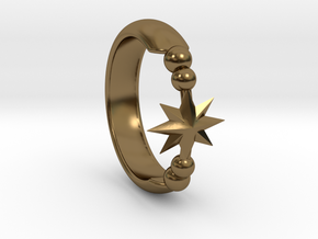 Ring of Star 14.1mm in Polished Bronze