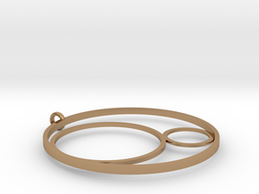 3CIRCLES PENDANT in Polished Brass