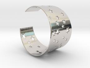 Starry Night Bracelet Ø58 mm/Ø2.283 inch S in Platinum