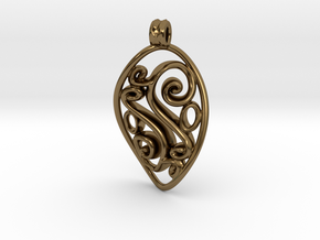 Swirl Pendant in Polished Bronze