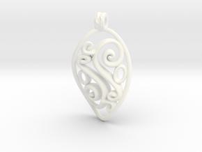 Swirl Pendant in White Processed Versatile Plastic