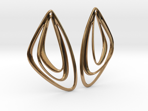 The Minimalist Earrings Set I (1 Pair) in Polished Brass