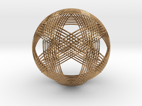 Woven Sphere in Polished Brass