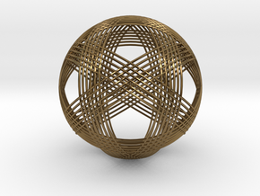 Woven Sphere in Polished Bronze