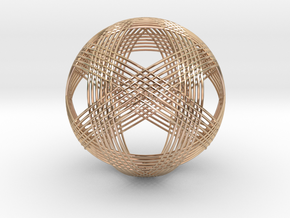 Woven Sphere in 14k Rose Gold Plated Brass