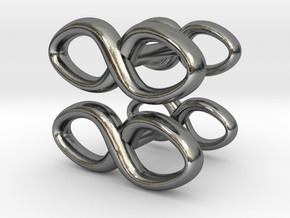 Cufflinks Infinity Symbol 2x in Polished Silver
