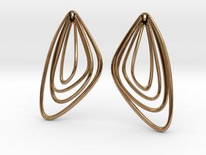 The Minimalist Earrings Set II (1Pair) in Polished Brass