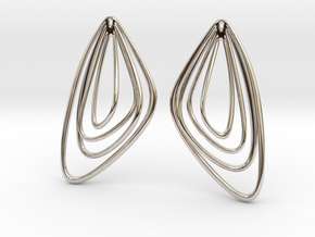 The Minimalist Earrings Set II (1Pair) in Rhodium Plated Brass