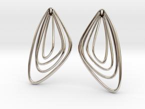 The Minimalist Earrings Set II (1Pair) in Rhodium Plated Brass