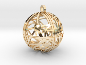 Craters of Dione Pendant in 14K Yellow Gold